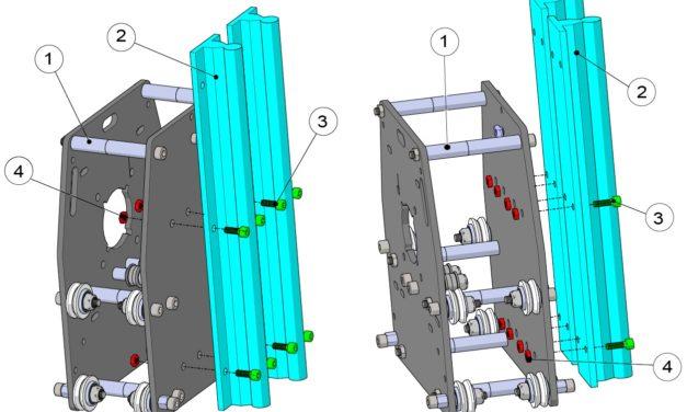 Fixation rails de guidage axe Z