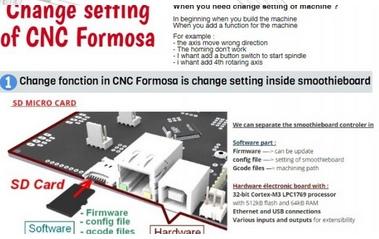 4 – Changer les paramètres de la CNC Formosa