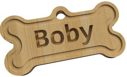 Etiquette collier Boby