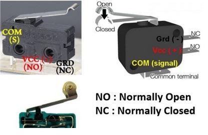 Connecter les capteurs de fin de course