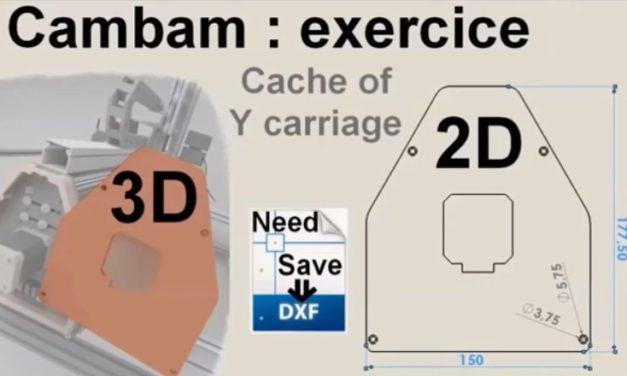 Exercice usinage 2D avec CAMBAM