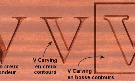 V Carving ( sculptures en V )