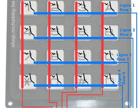 (Fr) Keypad arduino